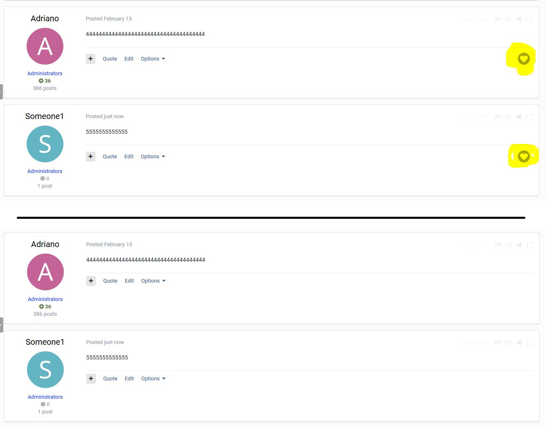 Reactions Per Forum