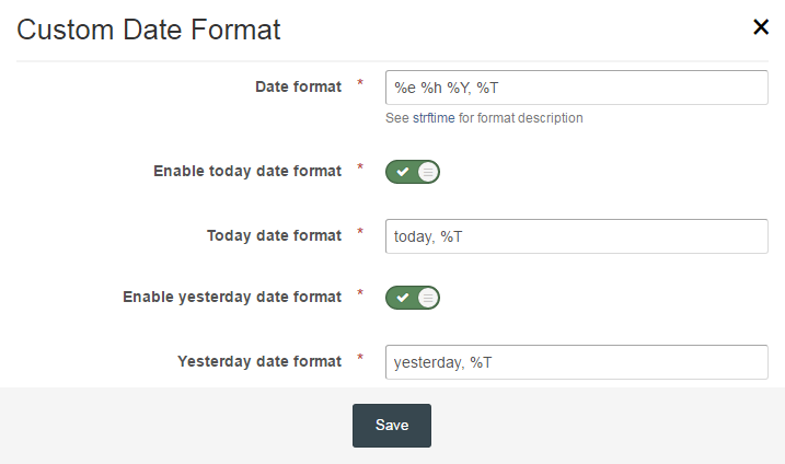 Custom Date Format