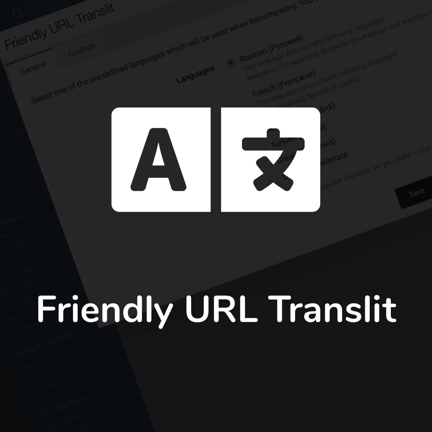Friendly URL Translit