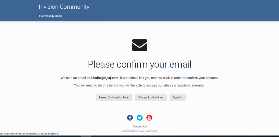 Validating: Force User to Change Email Address