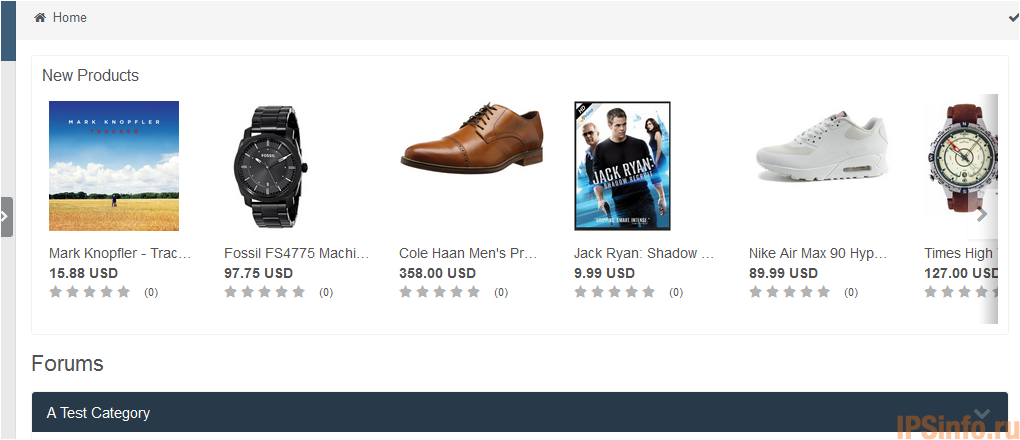 Store Products Widget 4