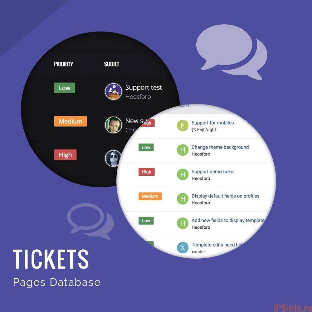 Database Tickets