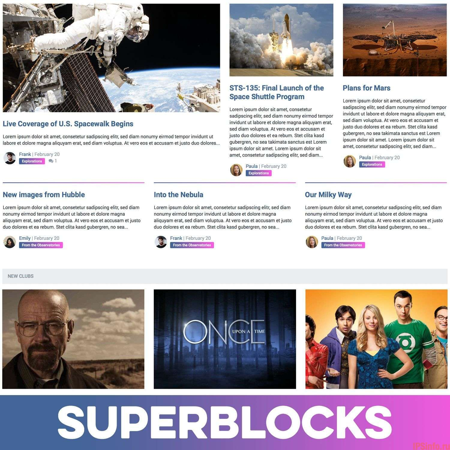 Pages SuperBlocks