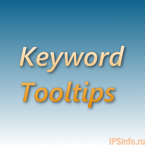 Keyword Tooltips