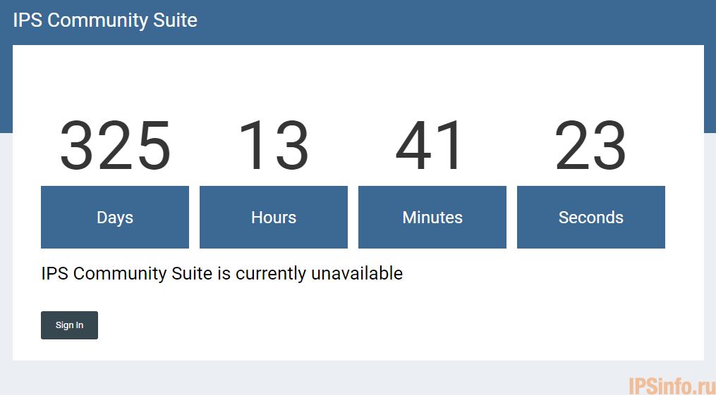 IPS Offline Countdown