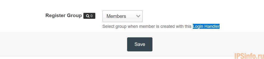 Register Group for Login Handlers