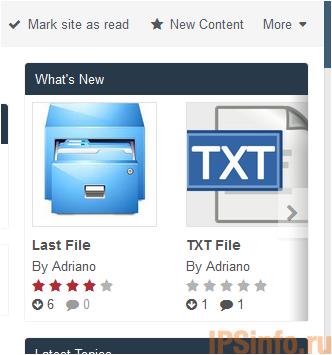 Downloads Files Widget