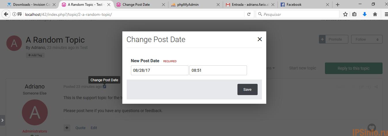 Change Post Date