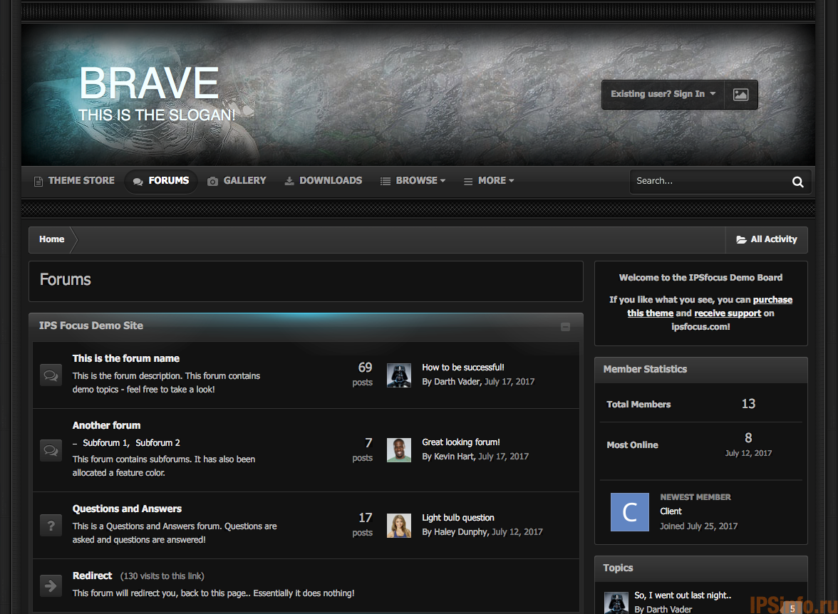 Brave for IPS Suite 4.2.x