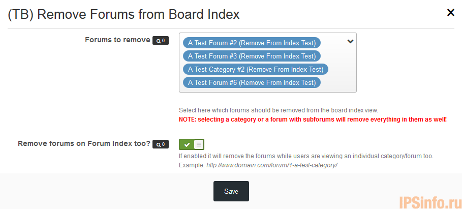 (TB) Remove Forums from Board Index