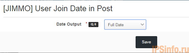 [JIMMO] User Join Date in Post