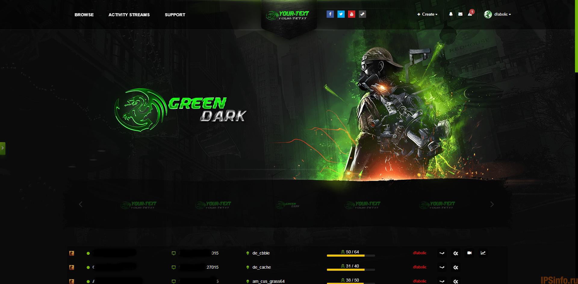 Green Dark Gaming