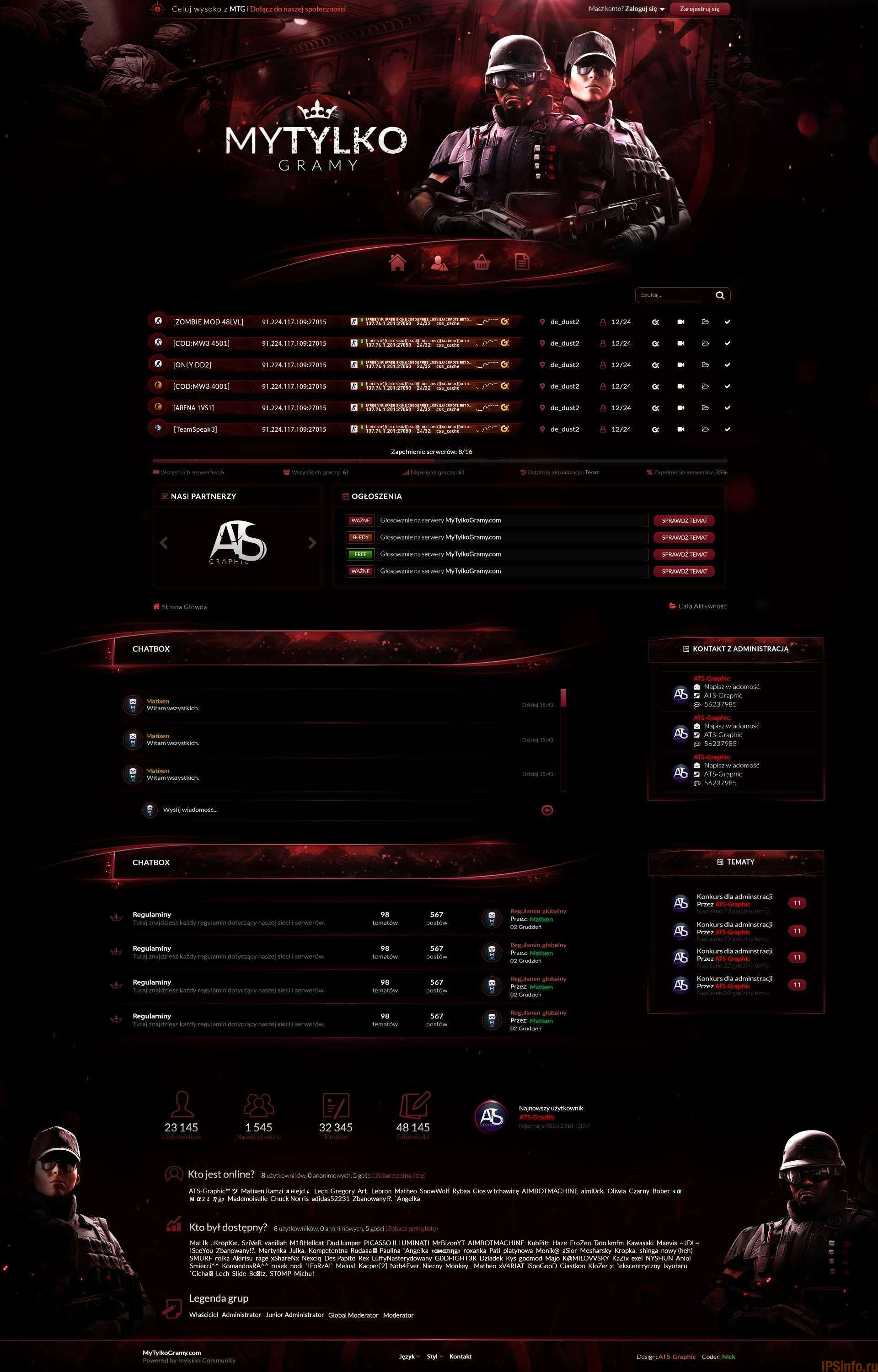 MTG Red Gaming Theme for IPS Community Suite