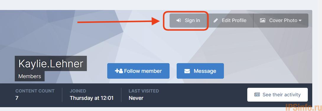 Sign In As Member