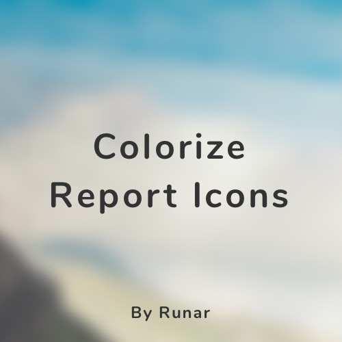 Colorize Report Icons