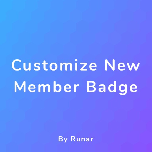 Customize New Member Badge