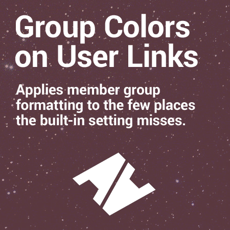 Group Colors on User Links