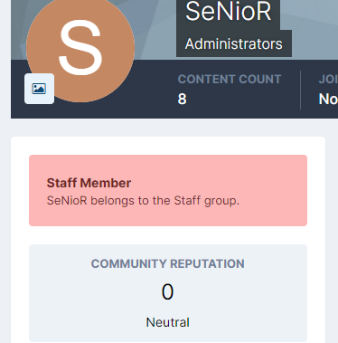Staff Badge in User Profile